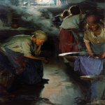 Abram Efimovich Arkhipov (1862–1930)  Laundress  Oil on canvas, End 1890  91 x 70 cm  The State Tretyakov Gallery, Moscow, Russia