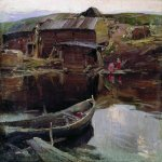 Abram Efimovich Arkhipov (1862–1930)  North Village  Oil on canvas, 1900-e  62.5 x 73.5 cm  Chuvash State Art Museum, Chuvashia region, Russia