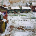 Abram Efimovich Arkhipov (1862–1930)  Winter. Backyards  Oil on canvas  Bryansk Regional Art Museum, Bryansk region, Russia