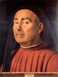 Antonello da Messina (c. 1430 – February 1479) Portrait of a Man 1476 Panel Turin City Museum of Ancient Art, Italy