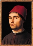 Antonello da Messina (c. 1430 – February 1479) Portrait of a Man about 1475 Oil on poplar, painted surface 35.6 x 25.4 cm National Gallery, London, UK