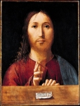 Antonello da Messina (c. 1430 � February 1479) Christ Blessing apparently dated 1465 Oil (identified) on wood, painted surface 38.7 x 29.8 cm National Gallery, London, UK