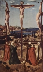 Antonello da Messina (c. 1430 – February 1479) The Sibiu Crucifixion 1454-1455 Oil on wood 39 cm × 23.5 cm (15 in × 9.3 in) Brukenthal National Museum, Sibiu, Romania