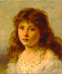 Sophie Gengembre Anderson (1823-1903)  Young Girl  Oil on canvas  Private collection