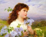 Sophie Gengembre Anderson (1823-1903)  The Time of the Lilacs  Oil on canvas  54 x 43.8 cm (21.26