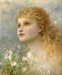 Sophie Gengembre Anderson (1823-1903)  Heavenwards  Oil on canvas  Private collection