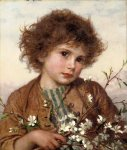 Sophie Gengembre Anderson (1823-1903)  Spring blossom  Oil on canvas, unknown  Private collection