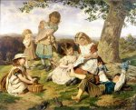 Sophie Gengembre Anderson (1823-1903)  The Children's Story Book  Oil on canvas, unknown  Private collection