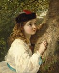 Sophie Gengembre Anderson (1823-1903)  The initials  Oil on canvas, unknown  Private collection