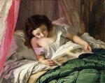 Sophie Gengembre Anderson (1823-1903)  Reading time  Oil on canvas, unknown  Private collection