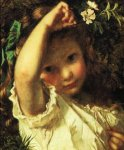 Sophie Gengembre Anderson (1823-1903)  Peek A Boo!  Oil on canvas, unknown  Private collection