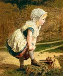 Sophie Gengembre Anderson (1823-1903)  Wait for Me Returning Home  School  Oil on canvas, unknown  Private collection