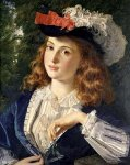 Sophie Gengembre Anderson (1823-1903)  A Spring Beauty  Oil on canvas, unknown  Private collection