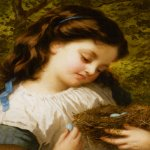 Sophie Gengembre Anderson (1823-1903)  The Brids Nest  Oil On Canvas, unknown  30 x 26 cm (11.81