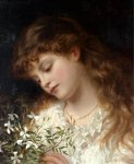 Sophie Gengembre Anderson (1823-1903)  Jasmine  Oil on canvas, unknown  Private collection