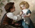 Sophie Gengembre Anderson (1823-1903)  The cheat  Oil on canvas, unknown  Private collection