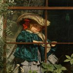 Sophie Gengembre Anderson (1823-1903)  No Walk Today  Oil On Canvas, unknown  49.5 x 39.5 cm (19.49