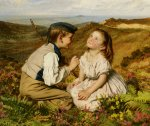 Sophie Gengembre Anderson (1823-1903)  Its Touch and Go to Laugh or No  Oil On Canvas, 1857  63.5 x 76 cm (25