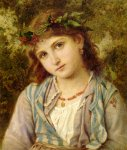 Sophie Gengembre Anderson (1823-1903)  An Autumn Princess  Oil On Canvas, unknown  36 x 30 cm (14.17
