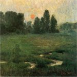 John Ottis Adams (1851-1927)  An August Sunset - Prarie Dell  Oil on canvas, 1894  18 x 28 inches (45.72 x 71.12 cm)  Indianapolis Museum of Art