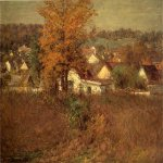John Ottis Adams (1851-1927)  Our Village  Oil on canvas, 1902  22 x 32 1/8 inches (55.88 x 81.61 cm)  Public collection