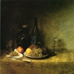 John Ottis Adams (1851-1927)  Still Life  Oil on canvas, 1883  25 x 30 inches (63.50 x 76.20 cm)  Indiana State Museum and Historic Sites, Indiana