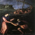1590  Oil on copper  18 1/2 x 15 5/8 inches (47 x 40 cm)  Galleria degli Uffizi, Florence, Italy
