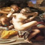 Alessandro Allori (1535-1607)  Susanna and The Elders  Oil on canvas  Private collection