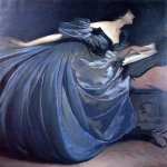 John White Alexander (1856-1915)  Althea  Oil on canvas, 1895  63 1/2 x 52 1/2 inches (161.29 x 133.35 cm)  Public collection