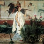 Sir Lawrence Alma-Tadema (1836-1912)  A Greek Woman  Oil on canvas, 1869  26 1/4 x 18 1/2 inches (66.7 x 47.1 cm)  Private collection