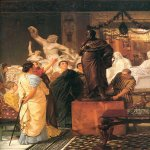 Sir Lawrence Alma-Tadema (1836-1912)  A Sculpture Gallery  Oil on panel, 1867  Montreal Museum of Arts, Montreal