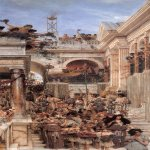 Sir Lawrence Alma-Tadema (1836-1912)  Spring  Oil on canvas, 1894  70 1/2 x 31 3/8 inches (179.1 x 80 cm)  J. Paul Getty Museum, Los Angeles
