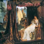 Sir Lawrence Alma-Tadema (1836-1912)  Antony and Cleopatra  Oil on canvas, 1883  25 5/8 x 36 1/4 inches (65.4 x 92.1 cm)  Private collection