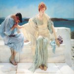 Sir Lawrence Alma-Tadema (1836-1912)  Ask me no more  Oil on canvas, 1906  31 3/8 x 45 1/2 inches (80 x 115.6 cm)  Private collection