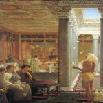 Sir Lawrence Alma-Tadema (1836-1912)  Egyptian Juggler  Oil on canvas, 1870  17 5/8 x 26 inches (45 x 66.1 cm)  Private collection