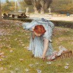 Sir Lawrence Alma-Tadema (1836-1912)  Flora  Watercolour, 1877  11 3/4 x 7 7/8 inches (29.9 x 20.3 cm)  Private collection