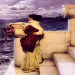 Sir Lawrence Alma-Tadema (1836-1912)  Hero  Oil on canvas, 1898  Public collection