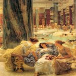 Sir Lawrence Alma-Tadema (1836-1912)  The Baths of Caracalla  Oil on canvas, 1899  59 7/8 x 37 1/2 inches (152.3 x 95.3 cm)  Private collection