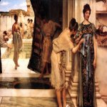 Sir Lawrence Alma-Tadema (1836-1912)  The Frigidarium  Oil on canvas, 1890  17 3/4 x 23 1/2 inches (45.1 x 59.7 cm)  Private collection