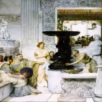 Sir Lawrence Alma-Tadema (1836-1912)  The Sculpture Gallery  Oil on canvas, 1874  87 7/8 x 68 1/4 inches (223.4 x 173.5 cm)  Private collection