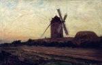 Alexey Petrovich Bogolyubov (16 March 1824 – 3 February 1896) Windmill. Pornic, 1867