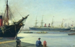Alexey Petrovich Bogolyubov (16 March 1824 – 3 February 1896) Le Havre Oil on canvas, 1880-1890-s 27 x 41 cm Central Naval Museum, St. Petersburg, Russia