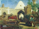 Alexey Petrovich Bogolyubov (16 March 1824 – 3 February 1896) Armenian caravanserai. Etude Paper on canvas, oil, 1861  24.4 x 31 cm The State Russian Museum, St. Petersburg, Russia