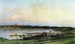 """Alexey Petrovich Bogolyubov (16 March 1824 – 3 February 1896) Golitsinsky Hospital in Moscow Repetition-variant patterns in 1879 \""""View of the Golitsinsky hospital and Neskuchne\"""" Oil on canvas, 1880 117 x 200 cm The State Russian Museum, St. Pe"""