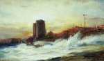 Alexey Petrovich Bogolyubov (16 March 1824 – 3 February 1896) Maiden Tower Etude Oil on canvas