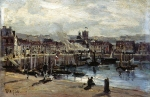 Alexey Petrovich Bogolyubov (16 March 1824 – 3 February 1896) Harbor. Dieppe Oil on canvas, 1882