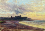 Alexey Petrovich Bogolyubov (16 March 1824 � 3 February 1896) Dieppe. Sunset Oil on canvas, 1870 (?) 28.9 x 41 cm Museum of Fine Arts, Stavropol Krai, Russia
