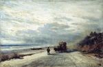 Alexey Petrovich Bogolyubov (16 March 1824 – 3 February 1896) The road to Savona Oil on canvas, 1880