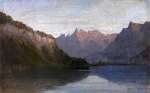 Alexey Petrovich Bogolyubov (16 March 1824  3 February 1896) Lake Geneva. Shilon Oil on canvas, 1854