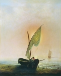 Alexey Petrovich Bogolyubov (16 March 1824 – 3 February 1896) Sunset (boat with a sail at thethe sea) Oil on canvas, 1857 105 x 87 cm Perm State Art Gallery, Russia
